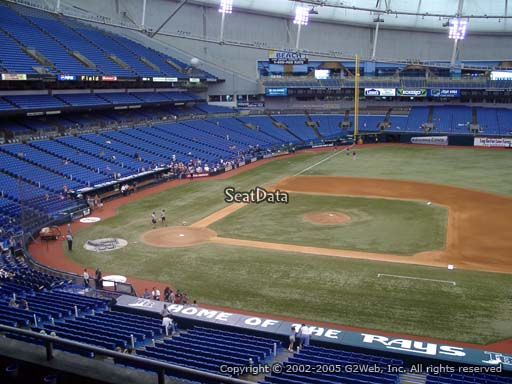 Seat view from section 212 at Tropicana Field, home of the Tampa Bay Rays