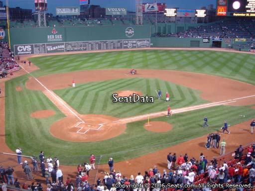 Seat view from EMC Club 1 at Fenway Park, home of the Boston Red Sox