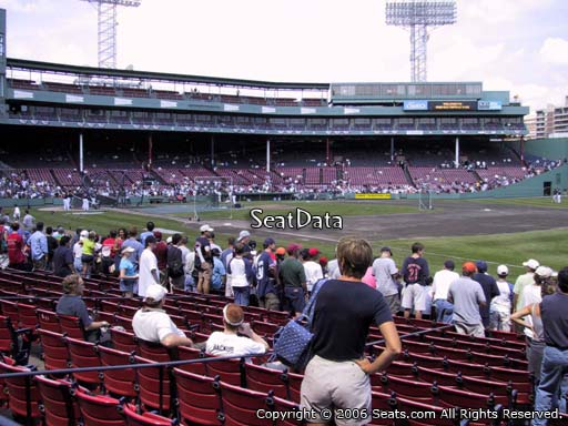 Seat view from field box section 11 at Fenway Park, home of the Boston Red Sox