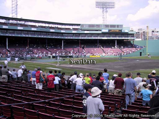Seat view from field box section 14 at Fenway Park, home of the Boston Red Sox