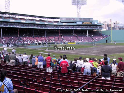 Seat view from field box section 16 at Fenway Park, home of the Boston Red Sox