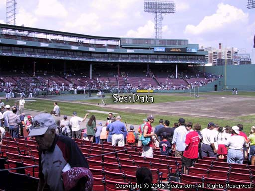 Seat view from field box section 17 at Fenway Park, home of the Boston Red Sox