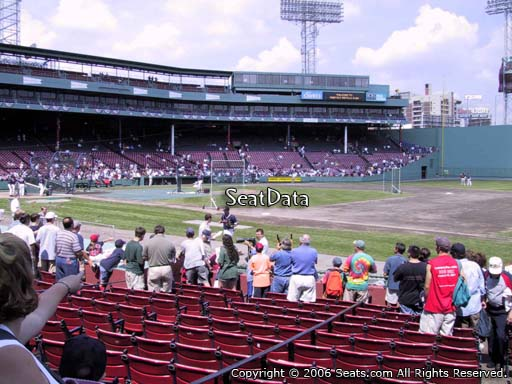Seat view from field box section 18 at Fenway Park, home of the Boston Red Sox
