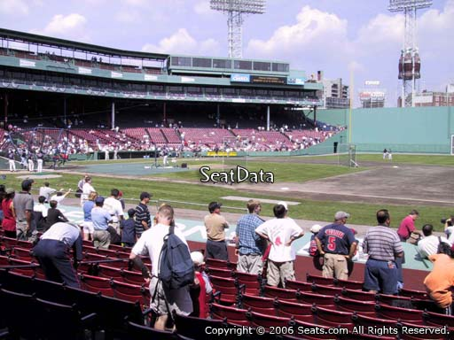 Seat view from field box section FB 21 at Fenway Park, home of the Boston Red Sox