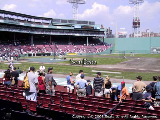 Seat view from field box section FB 22 at Fenway Park, home of the Boston Red Sox