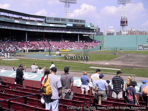 Seat view from field box section 23 at Fenway Park, home of the Boston Red Sox