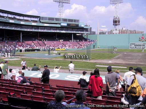 Seat view from field box section 24 at Fenway Park, home of the Boston Red Sox