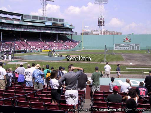 Seat view from field box section 27 at Fenway Park, home of the Boston Red Sox