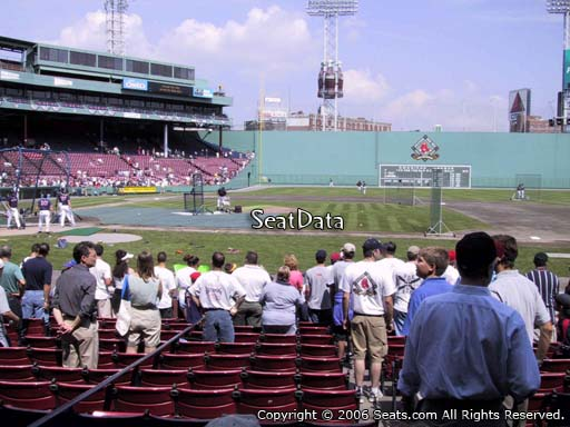 Seat view from field box section 30 at Fenway Park, home of the Boston Red Sox