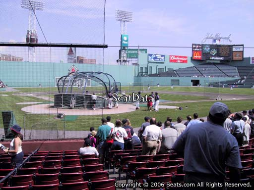 Seat view from field box section 41 at Fenway Park, home of the Boston Red Sox