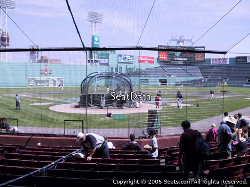 Seat view from field box section 43 at Fenway Park, home of the Boston Red Sox
