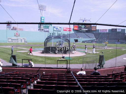 Seat view from field box section 44 at Fenway Park, home of the Boston Red Sox
