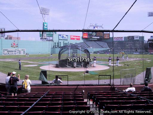 Seat view from field box section 45 at Fenway Park, home of the Boston Red Sox