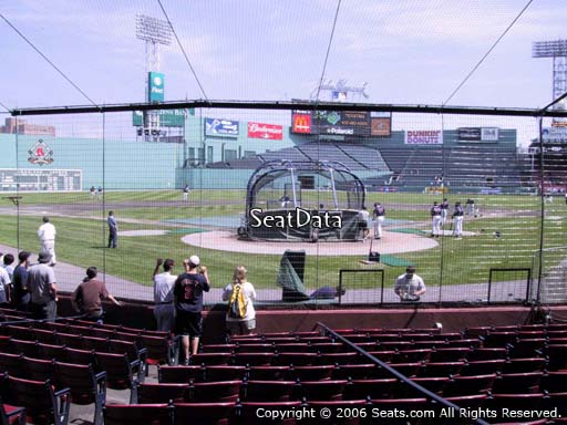 Seat view from field box section 46 at Fenway Park, home of the Boston Red Sox