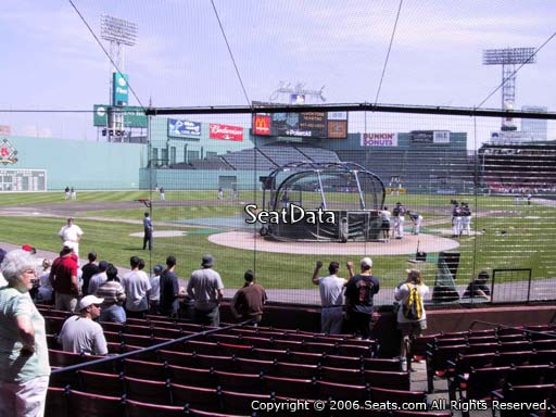 Seat view from field box section 47 at Fenway Park, home of the Boston Red Sox