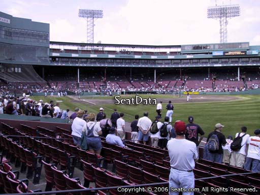Seat view from right field box section 5 at Fenway Park, home of the Boston Red Sox