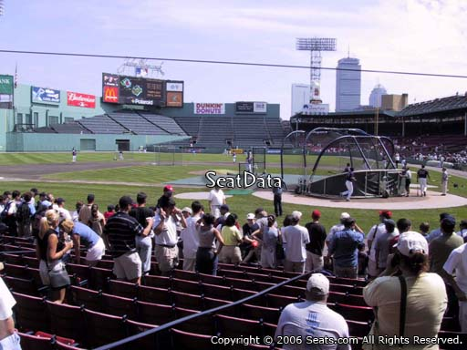 Seat view from field box section 51 at Fenway Park, home of the Boston Red Sox
