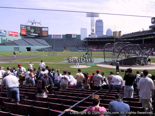 Seat view from field box section 53 at Fenway Park, home of the Boston Red Sox
