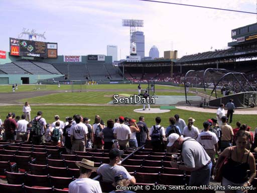 Seat view from field box section 55 at Fenway Park, home of the Boston Red Sox