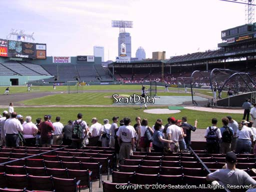 Seat view from field box section 56 at Fenway Park, home of the Boston Red Sox