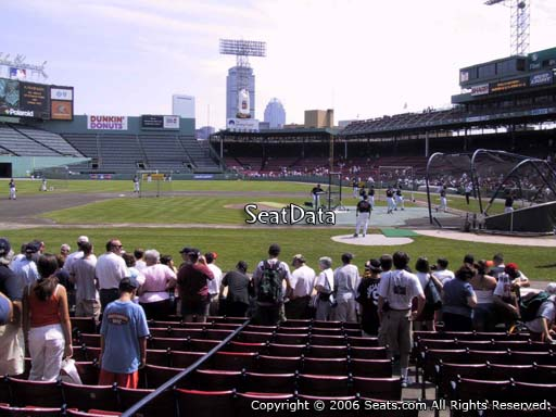 Seat view from field box section 57 at Fenway Park, home of the Boston Red Sox