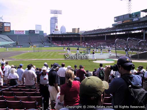 Seat view from field box section 58 at Fenway Park, home of the Boston Red Sox