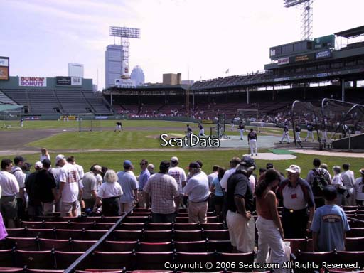 Seat view from field box section 59 at Fenway Park, home of the Boston Red Sox
