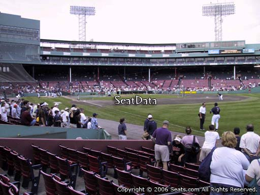 Seat view from right field box section 6 at Fenway Park, home of the Boston Red Sox