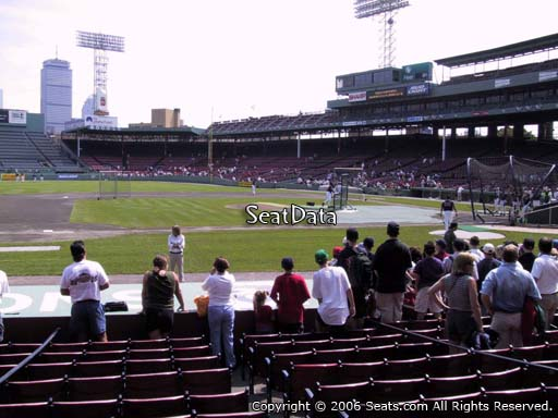 Seat view from field box section 63 at Fenway Park, home of the Boston Red Sox