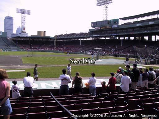 Seat view from field box section 64 at Fenway Park, home of the Boston Red Sox