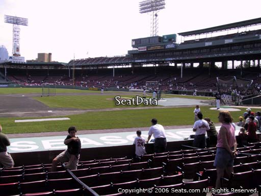 Seat view from field box section 66 at Fenway Park, home of the Boston Red Sox