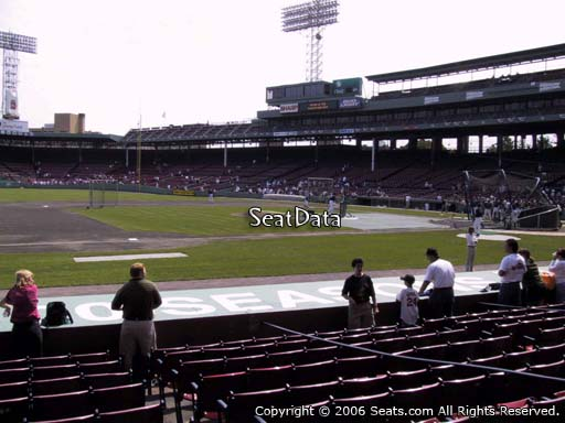 Seat view from field box section 67 at Fenway Park, home of the Boston Red Sox