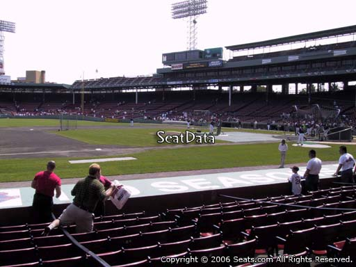 Seat view from field box section 68 at Fenway Park, home of the Boston Red Sox
