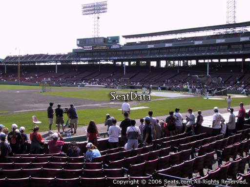 Seat view from field box section 71 at Fenway Park, home of the Boston Red Sox