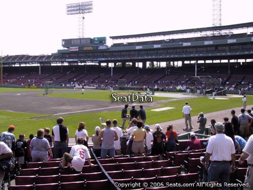 Seat view from field box section 73 at Fenway Park, home of the Boston Red Sox