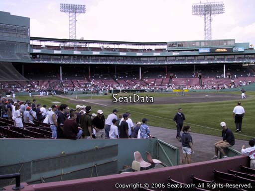 Seat view from right field box section 8 at Fenway Park, home of the Boston Red Sox