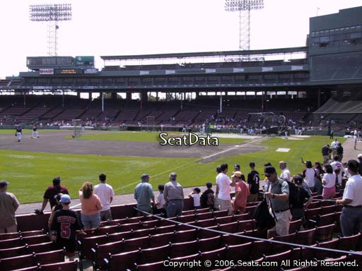 Seat view from field box section 80 at Fenway Park, home of the Boston Red Sox