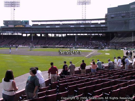 Seat view from field box section 82 at Fenway Park, home of the Boston Red Sox