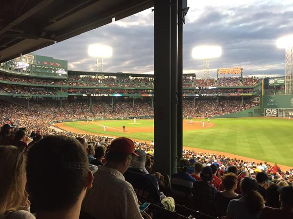 View from the Grandstand Area at Fenway Park