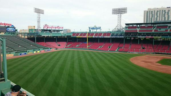 View from the Green Monster Seats at Fenway Park