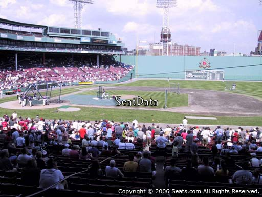 Seat view from Grandstand section 15 at Fenway Park, home of the Boston Red Sox