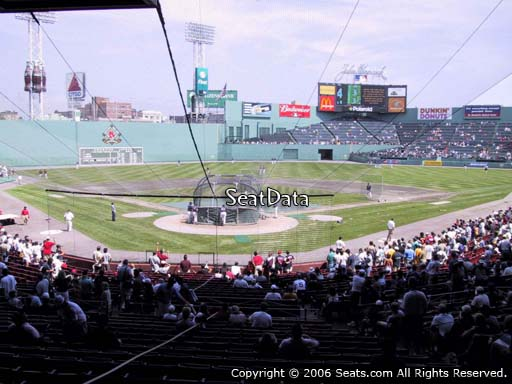 Seat view from Grandstand section 20 at Fenway Park, home of the Boston Red Sox