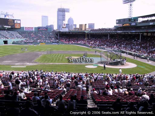 Seat view from Grandstand section 25 at Fenway Park, home of the Boston Red Sox