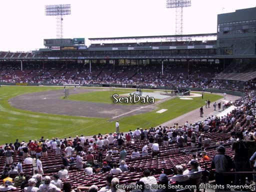 Seat view from Grandstand section 31 at Fenway Park, home of the Boston Red Sox