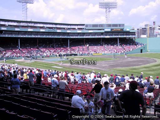 Seat view from loge box section 100 at Fenway Park, home of the Boston Red Sox