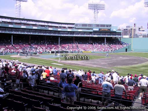 Seat view from loge box section 101 at Fenway Park, home of the Boston Red Sox