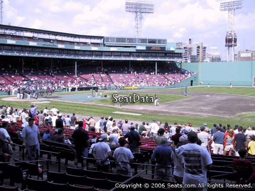 Seat view from loge box section 105 at Fenway Park, home of the Boston Red Sox