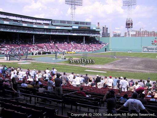 Seat view from loge box section 108 at Fenway Park, home of the Boston Red Sox