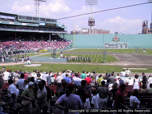 Seat view from loge box section 115 at Fenway Park, home of the Boston Red Sox
