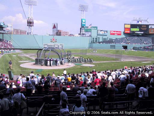 Seat view from loge box section 126 at Fenway Park, home of the Boston Red Sox